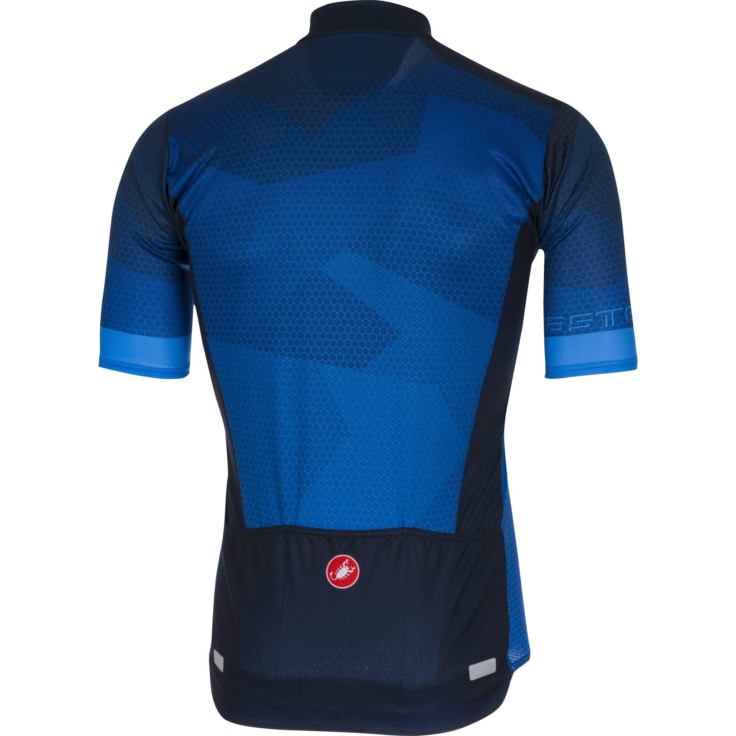 Castelli Men's Flusso Full Zipper Jersey - Surf Blue