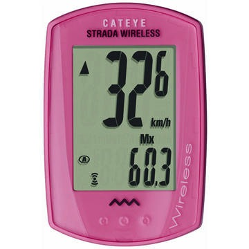 Cateye Strada Wireless, CC-RD300W Cycling Computer Pink