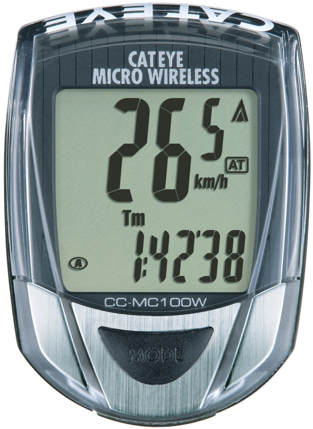 Cateye Micro Wireless, CC-MC100W Cycling Computer Black