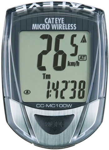 Cateye Micro Wireless, CC-MC100W Cycling Computer Black - Racer Sportif