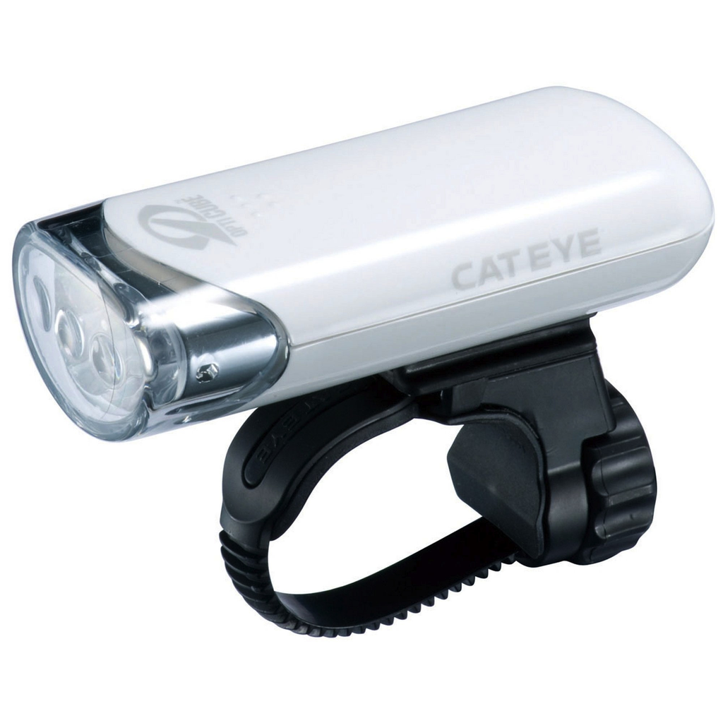 Cateye HL-EL135, 3 LED Front Light White - Racer Sportif