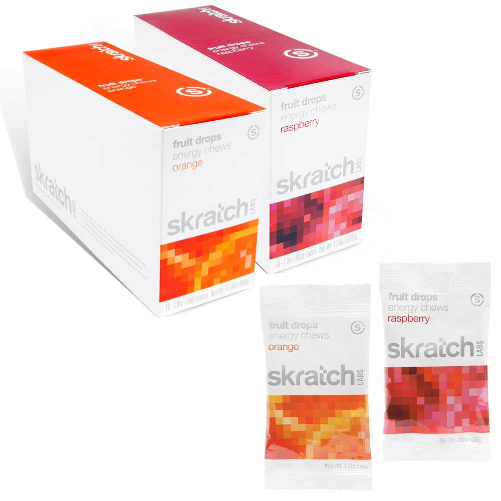 Skratch Labs Energy Chews Fruit Drops Box of 10 - Racer Sportif