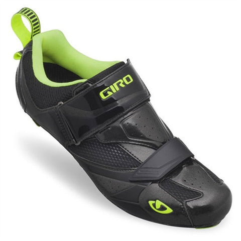 Giro Mele Tri Shoes obsidian & highlight yellow