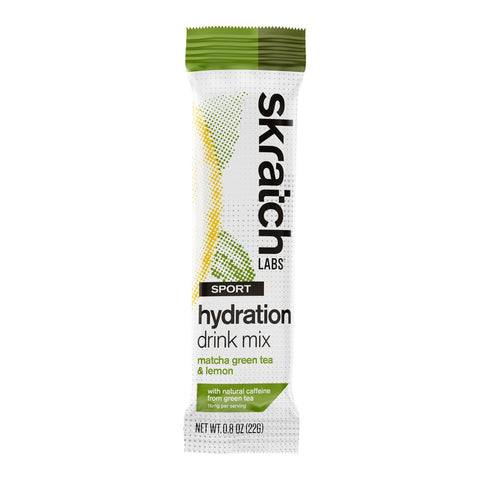 Skratch Labs Sport Hydration Mix, Matcha Green Tea & Lemon, 22g - Racer Sportif