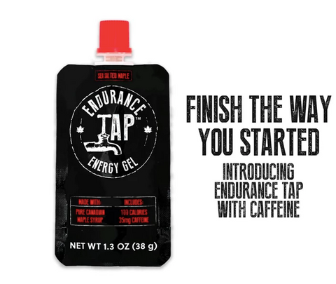 Endurance Tap Maple Syrup Energy Gel - Salted Maple with 35mg Caffeine