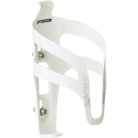 FSA SLK Bottle Cage White w/Silver Decal - Racer Sportif
