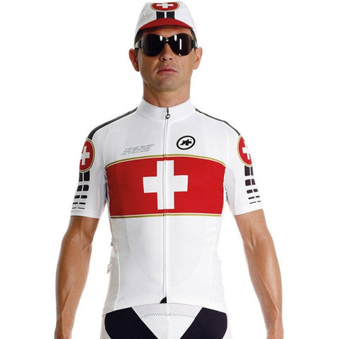 Assos SS.suisseOlympiakos_S7 Cycling Jersey - Red Swiss