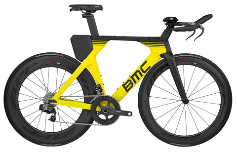 2018 BMC Timemachine01 TWO - Red eTap Tri Bike - Yellow