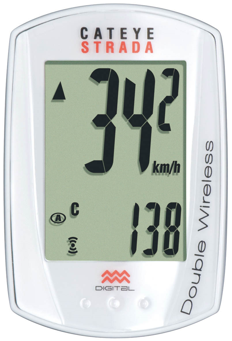 Cateye Strada Wireless, CC-RD300W Cycling Computer white - Racer Sportif