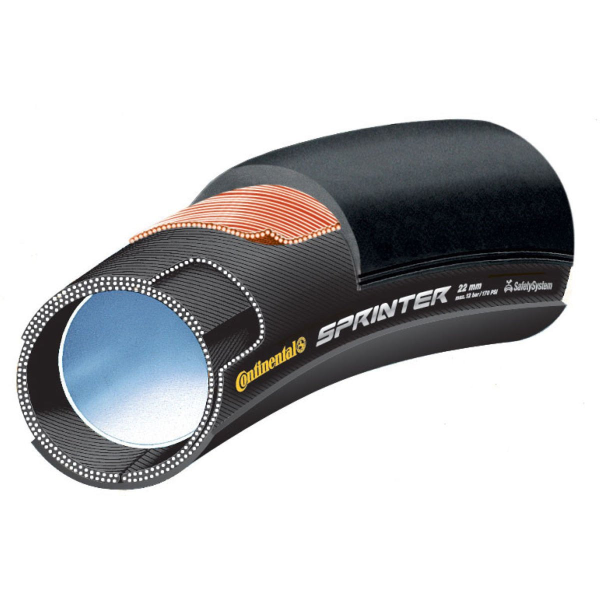 "Continental Sprinter Tubular 28""x 25mm Black Chili Compound"