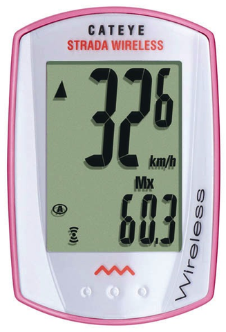 Cateye Strada Wireless Cycling Computer CC-RD300W Pink/White - Racer Sportif