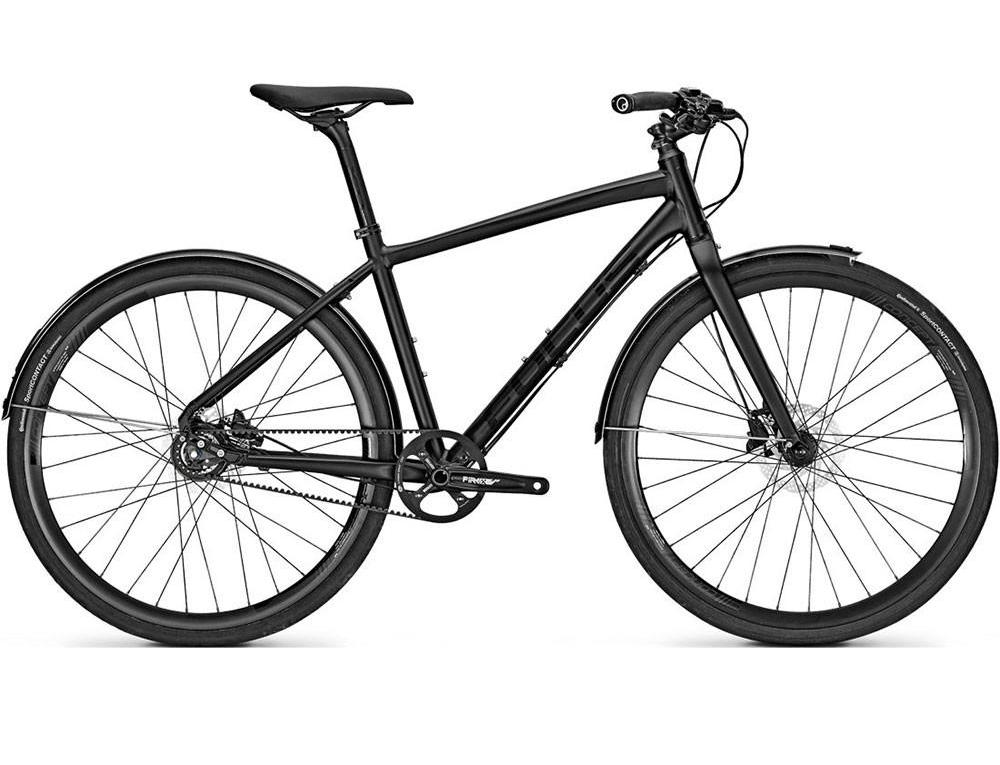 Focus Urban Pro Street - Shimano Alfine 8 Speed Hybrid Bike - Magic Matte Black