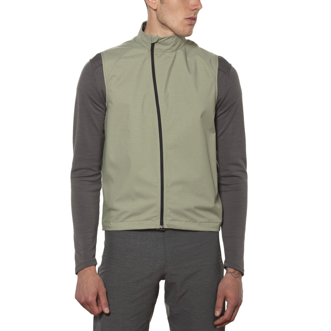 Giro Men's Wind Vest Green - Medium, Grey - Racer Sportif
