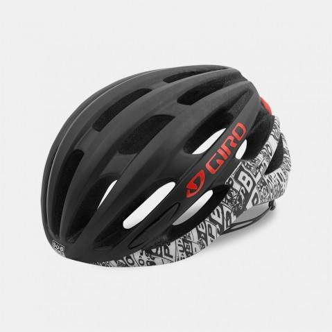 Giro Foray Road Helmet - Black & White & Sub Pop