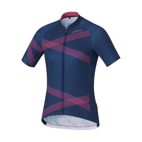 Women's Team Shimano Jersey - Navy/Pink