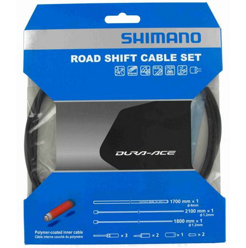 Shimano Dura Ace 9000 Road Shift Cable Set - Black - Racer Sportif