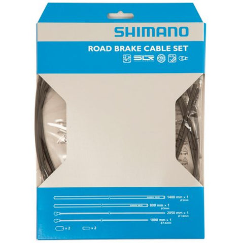 Shimano Road PTFE Brake Cable Set - Black - Racer Sportif
