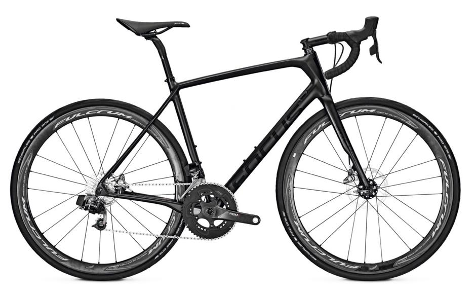 Focus Paralane - Sram Red eTap 11 Speed Road Bike - Carbon Matte Black