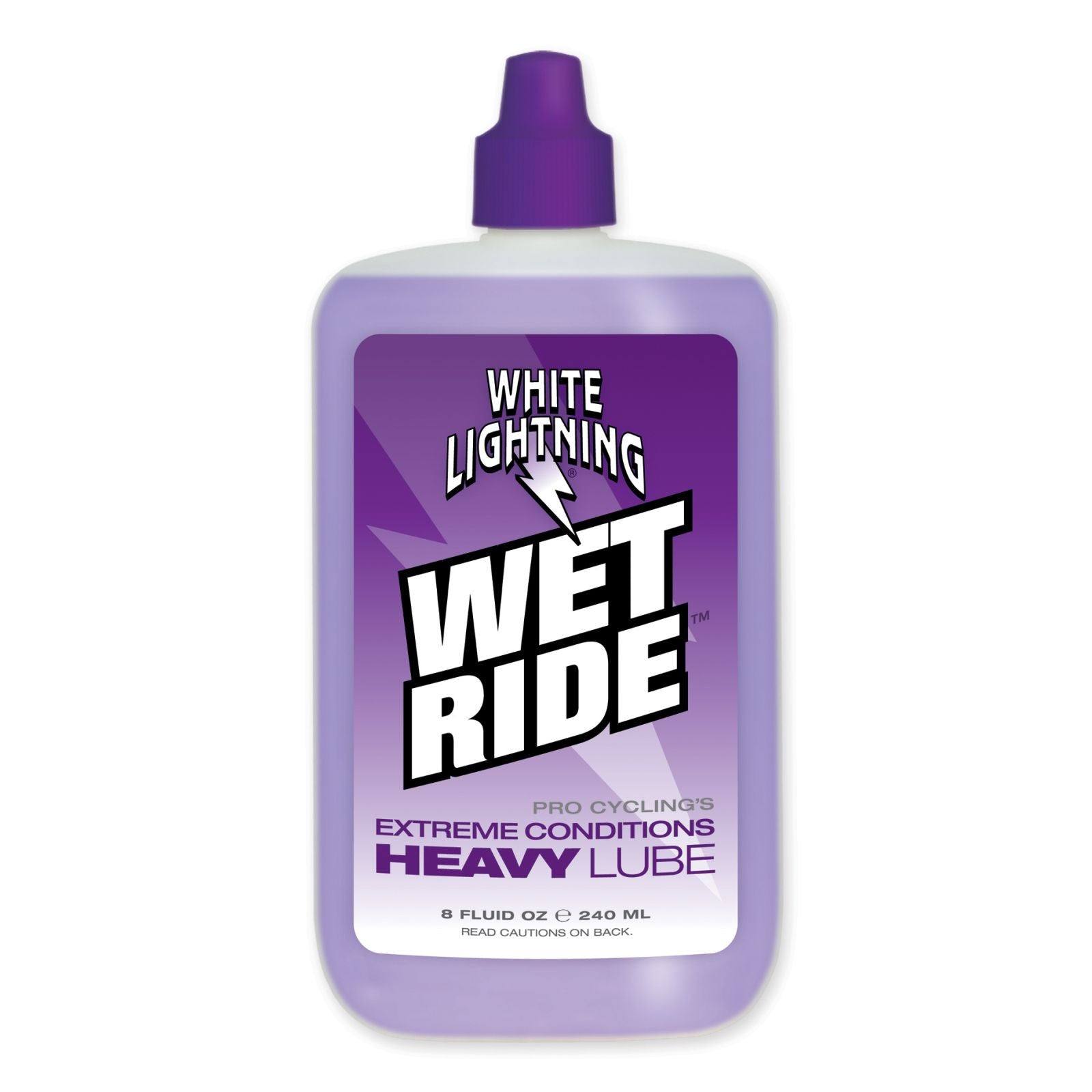 White Lightning Wet Ride Lubricant, Extreme Conditions Heavy Lube 240ml - Racer Sportif
