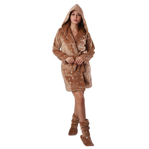 Heart Imprints Polar Fur Robe