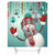 "71"" x 71"" Waterproof 3D Christmas Snowman Printed Bathroom Shower Curtain Bathroom Decor"