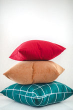 Load image into Gallery viewer, Red Plaid Pillow Cover