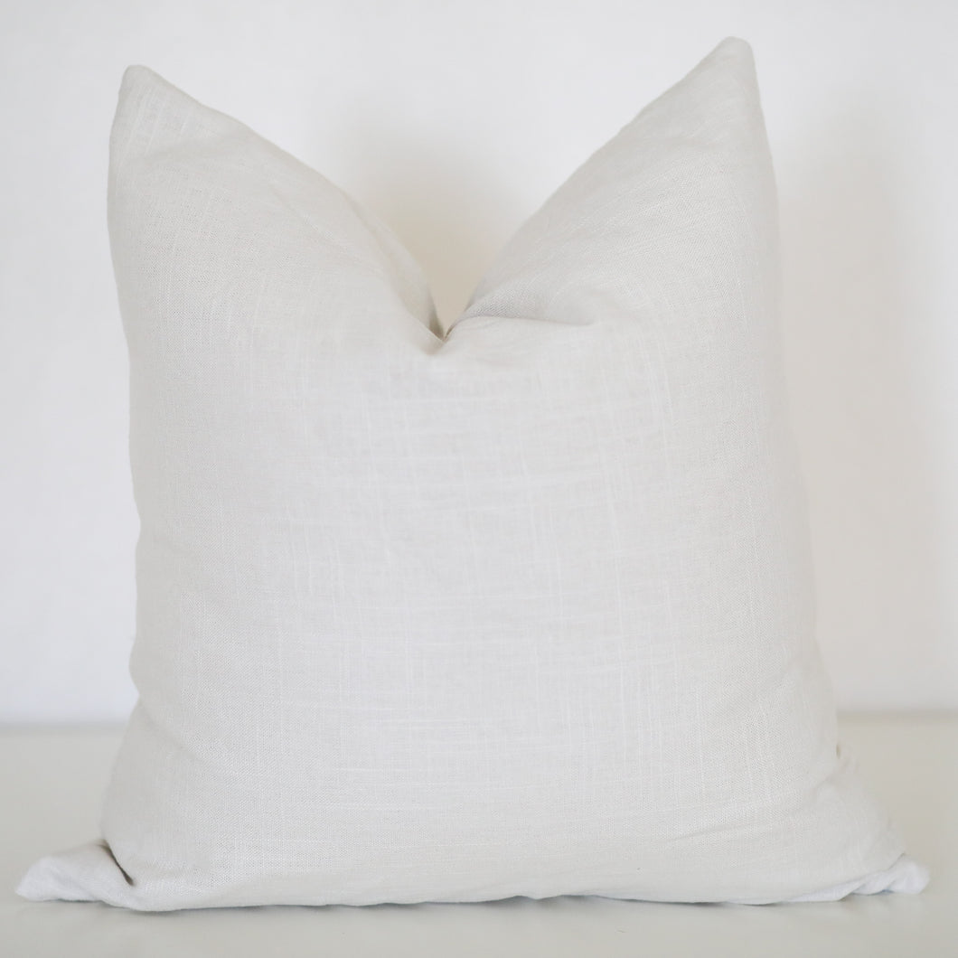 Stone Linen Pillow Cover