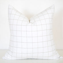 Load image into Gallery viewer, Tan and White Plaid Pillow Cover