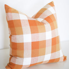 Load image into Gallery viewer, Warm Butterscotch Plaid Pillow Cover