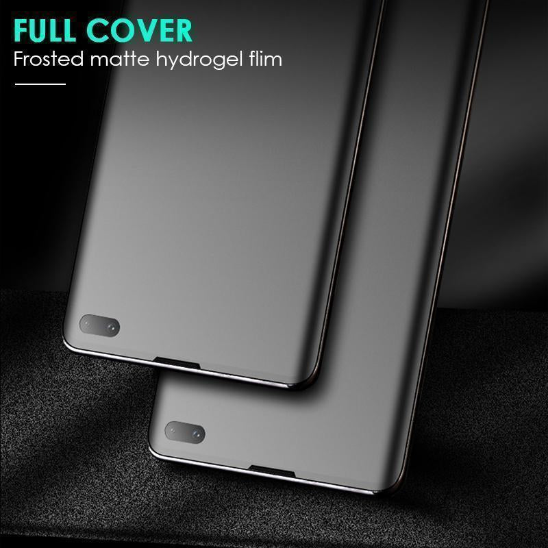 2 Pack Matte Hydrogel Full Coverage Screen Protector with Frosted Surface Anti Fingerprint for Samsung