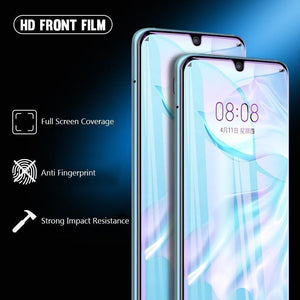 9D Curved Full Coverage Hydrogel Film Screen Protector For Huawei P30 P30Pro P30Lite