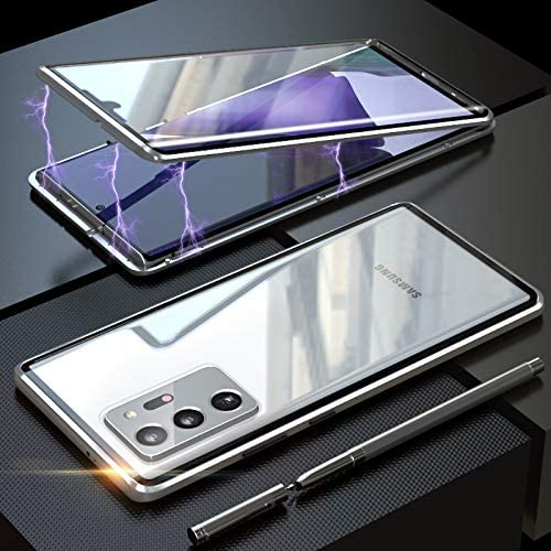 Upgraded Two Side Tempered Glass Magnetic Adsorption Phone Case for Samsung Galaxy Note20 Note20Ultra
