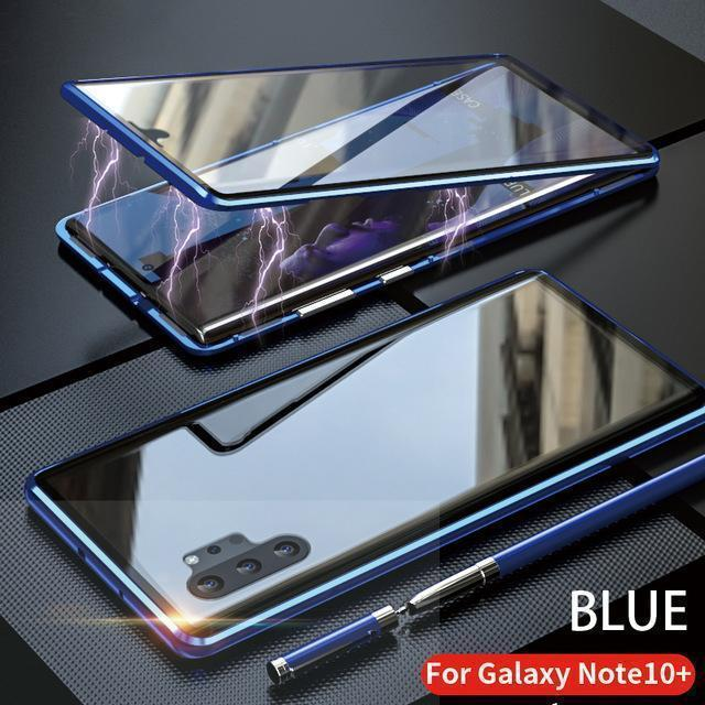 Upgraded Two Side Tempered Glass Magnetic Adsorption Phone Case For Samsung Galaxy Note10+5G Note10+ Note10 Note10Lite Note20 Note20Ultra