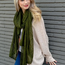 Load image into Gallery viewer, Netted Knit Scarf
