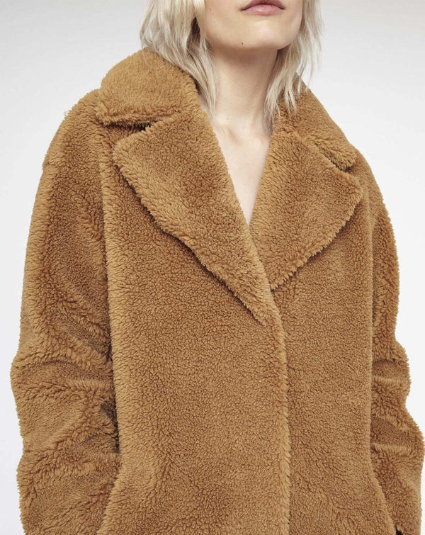Camille Cocoon Soft Teddy Coat
