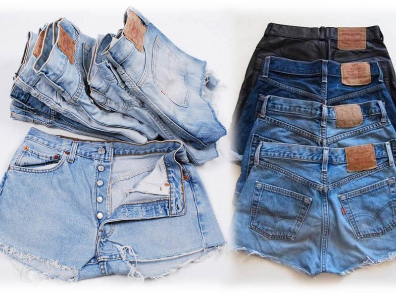 Vintage LEVI Shorts Denim Cutoff Jean Shorts CUSTOM FIT choose from Button Fly 501's or Zip Fly Levi's