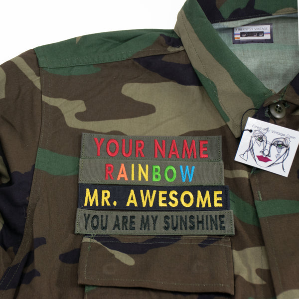Custom Name Patch Embroidered Patch Name Plate
