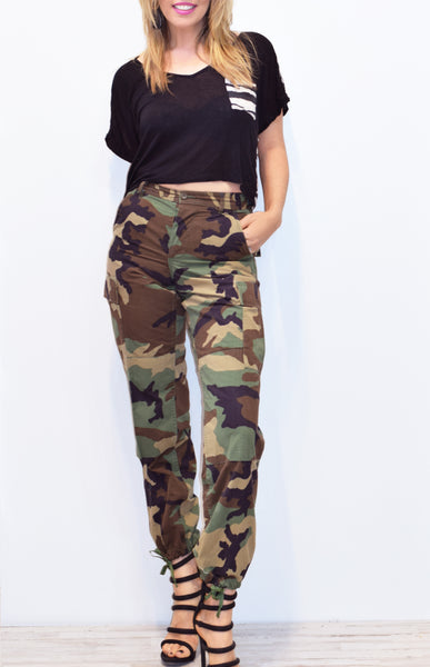 Vintage Camo Pants All Sizes Surplus Authentic Military Reclaimed Cargo Pants