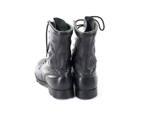 Vintage Military Boots Black Leather Army Combat Boots Womens Size 7