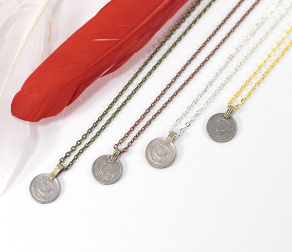 Coin Necklace Boho Gypsy Chain Pendant Necklace Made To Order Customizable