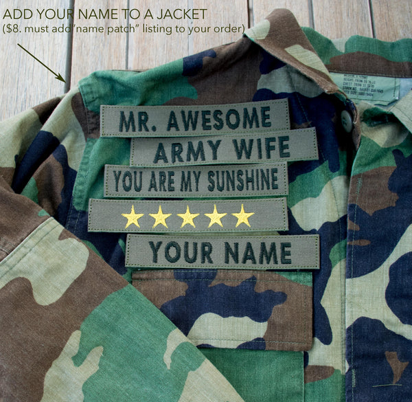 "Custom ""YOUR NAME"" embroidered PATCH only PUT YOUR NAME ON IT"