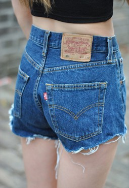 Vintage LEVIS Shorts Denim Cutoffs Jean Shorts Custom-fit All Sizes