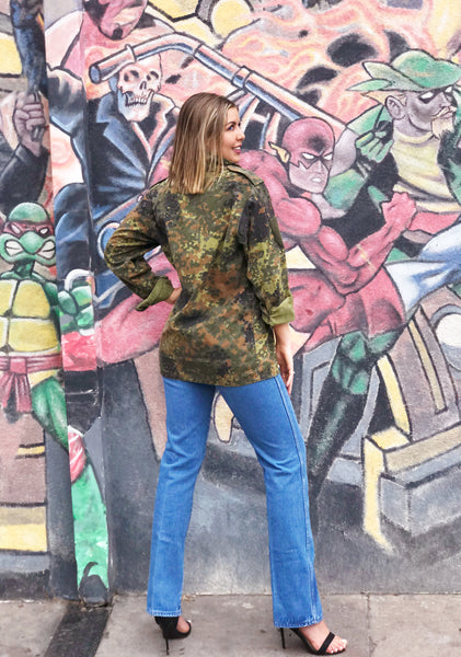 Military Jacket Authentic Vintage Europe Camo Jacket
