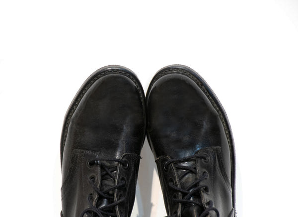 Vintage Military Boots Size 6.5 Black Leather Army Lace Up Combat Boots Womens Size  6 1/2