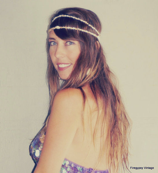 Mermaid Crown Seashell Headband Flapper Wedding Hawaiian Ocean Headpiece Beach Hair