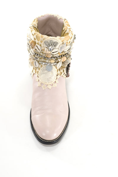 Mermaid Boots in Your Size SEASHELL Boho Decorated Cowboy Boots Wedding Festival Shell boots