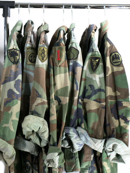 Camo Jacket Vintage 90s Military Army Issued Slouchy Grunge Button Down All Sizes