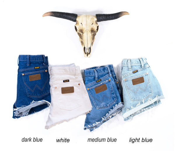 263ead89 Vintage WRANGLER Shorts Denim Highwaist Cutoffs Jean Shorts – FIREGYPSY  VINTAGE