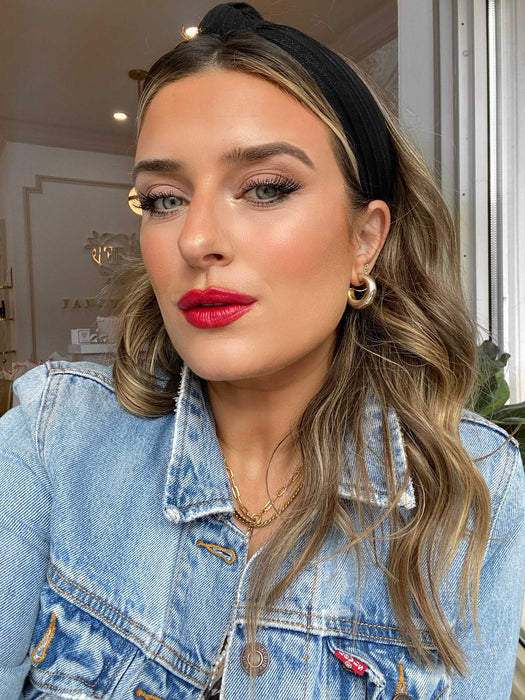 Brittany Gray wearing Give Love Lipstick