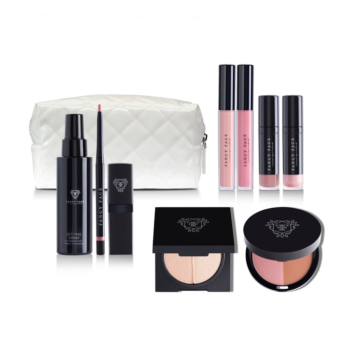 White Makeup Pouch | Fancy Face Beauty Product Line